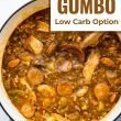 titled image (and shown): Turkey Gumbo with Low Carb Option