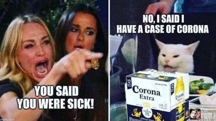 funny meme about Corona