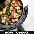 titled image for Pinterest (and shown): Air Fried Vegetables (shown in air fryer)
