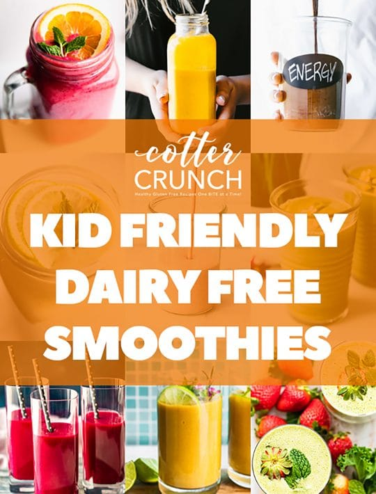 Pinterest Collage of Kid Friendly Dairy Free Smoothies