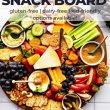 overhead image of snack board with pinterest text and