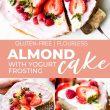 Almond Cake with Yogurt Frosting Pin image