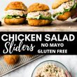 Pinterest Pin Image of Chicken Salad Sliders