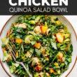 Peach Chipotle Chicken Quinoa Salad Bowl Pin Image