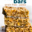 Pinterest image for coconut almond protein bars