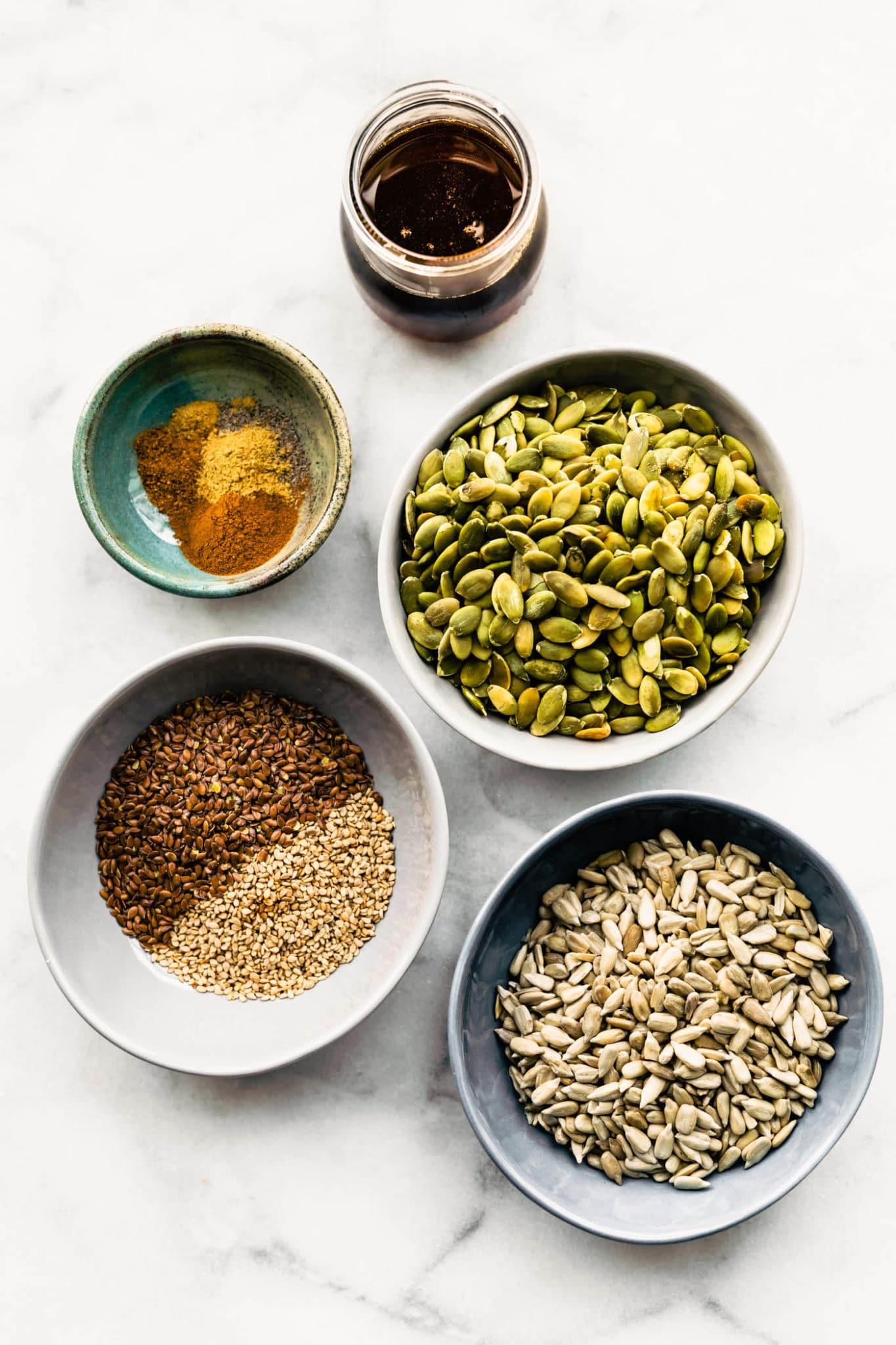 ingredients for pumpkin spice granola