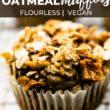 gluten free apple oatmeal muffin pinterest image